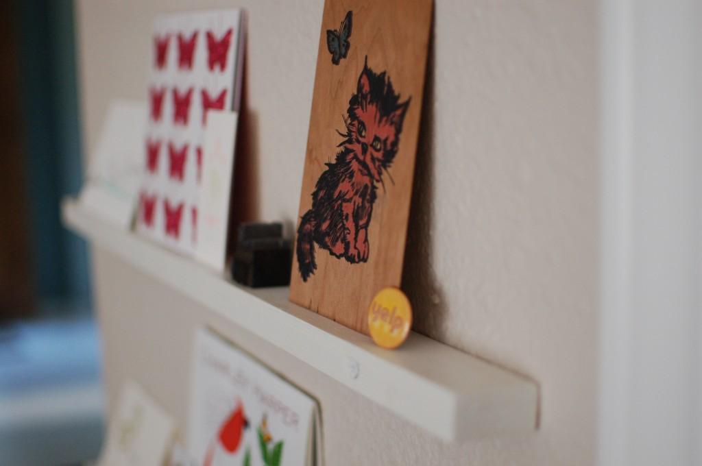 Inspiration shelf, closeup