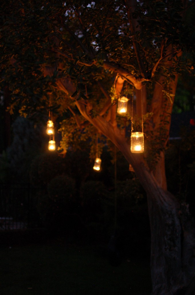 I Was So Excited To Finally Host An Outdoor Party With A Tree Right Smack  In. Seakettle Creative Decor Gifts Food. White Lanterns Hanging From Trees  Outdoor ...