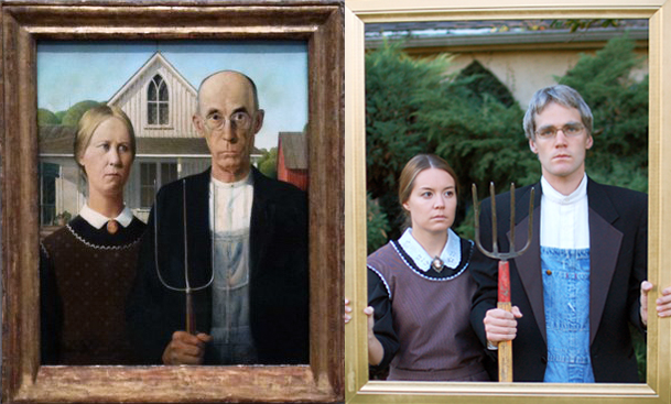 American Gothic: side by side