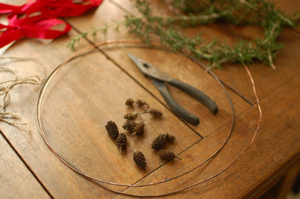 Rosemary wreath supplies
