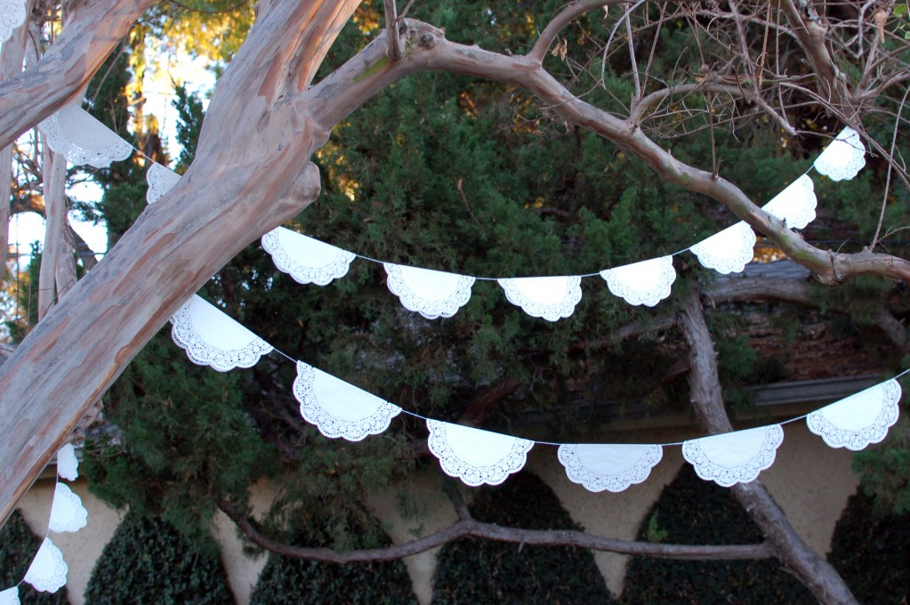 Doilies in the tree
