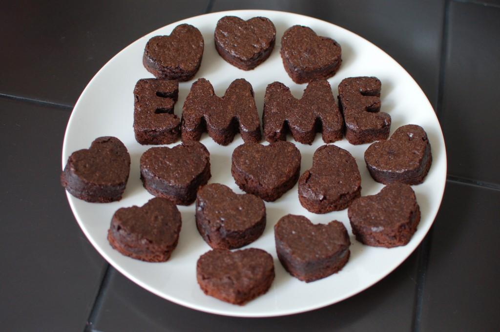 Cookie cutter brownies