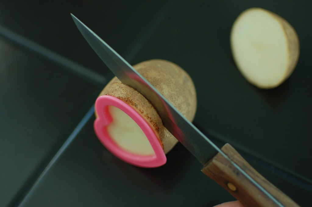 Cutting potato stamp