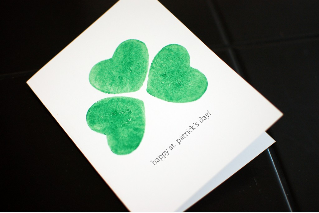 St. Patrick's Day potato print