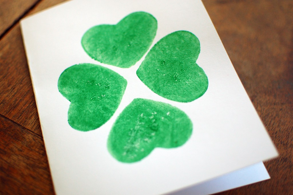 Shamrock potato print