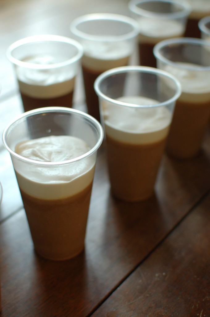 Guinness pudding cups