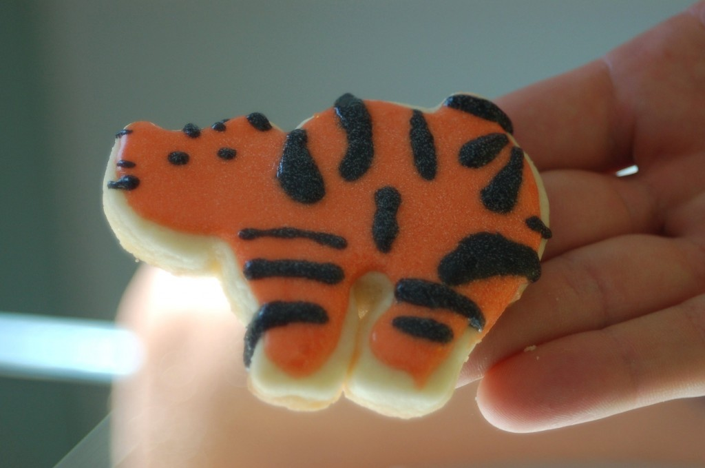Tiger sugar cookie