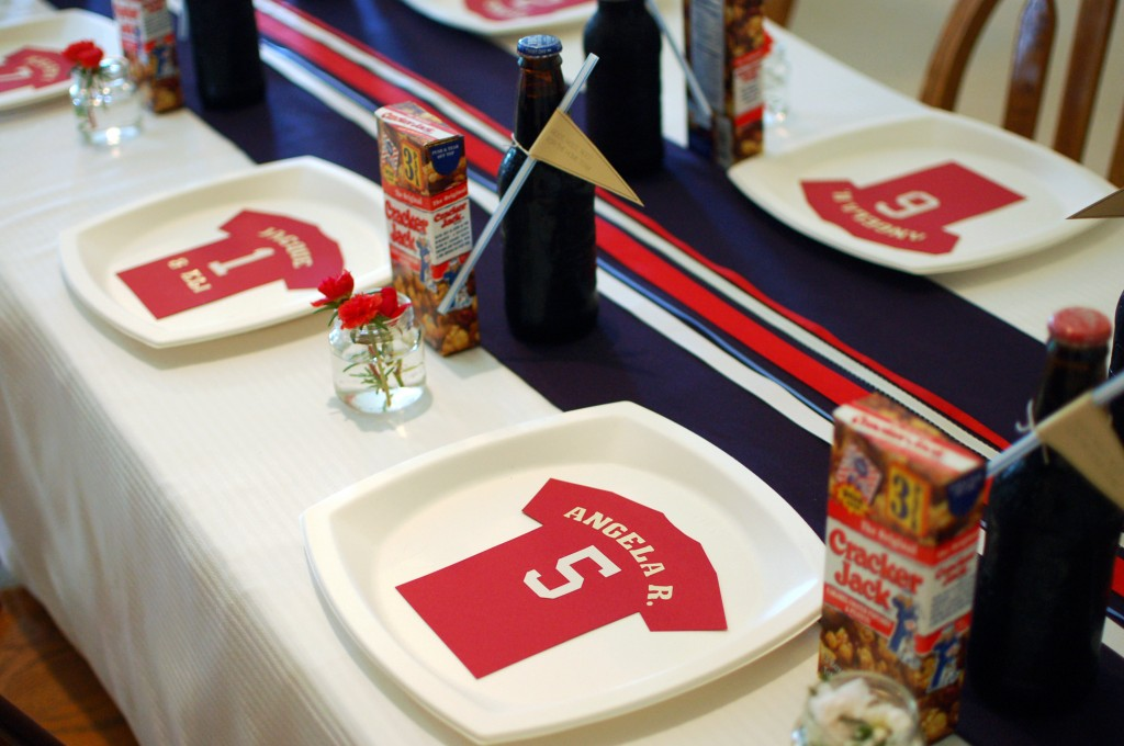 Baseball place settings