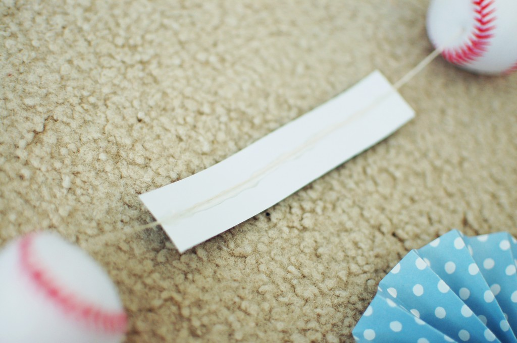 Glue string to rectangle
