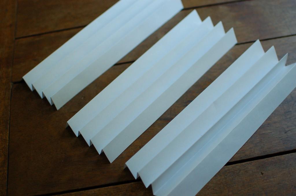 Three folded 8x10s