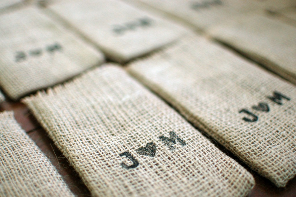 Stamped coffee bags