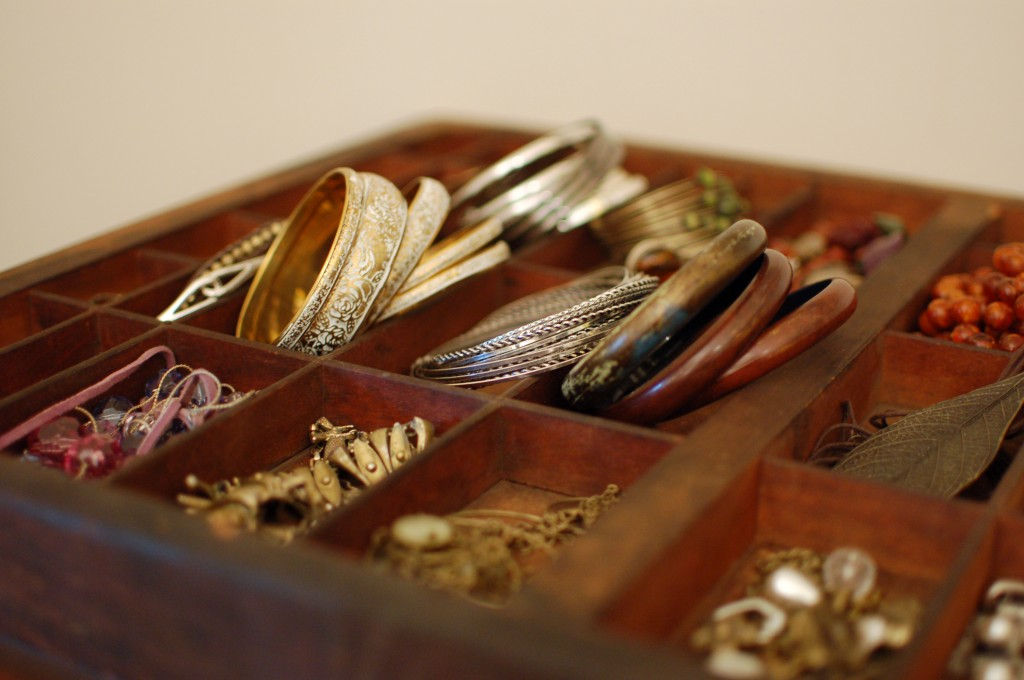 Jewelry in type tray