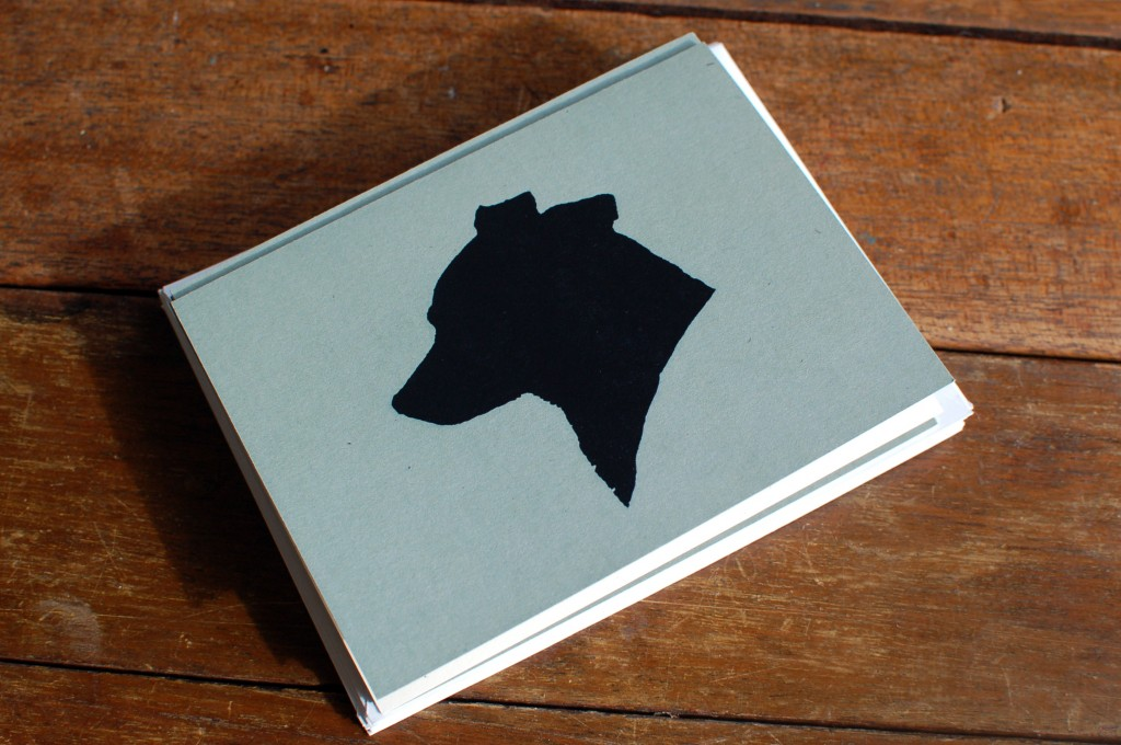 Dog silhouette stationery