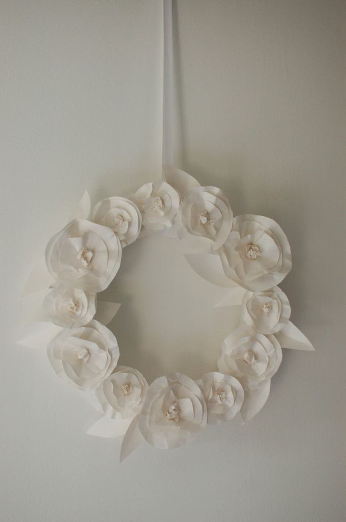 Butcher paper wreath
