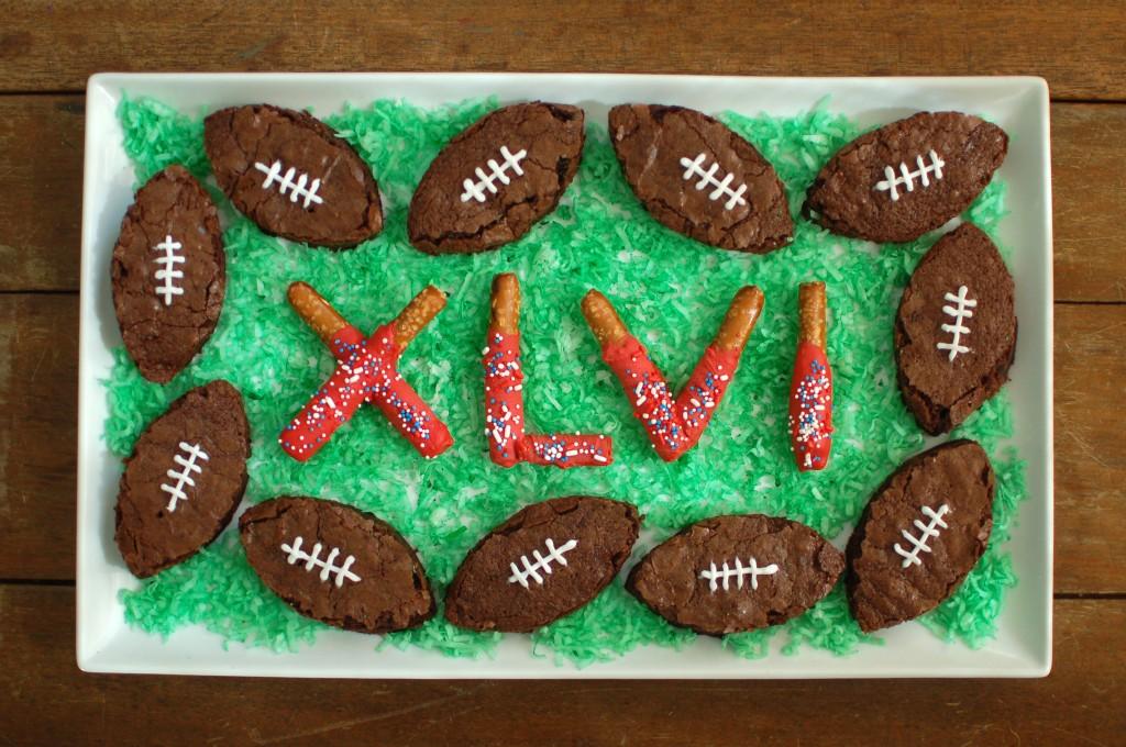 Super Bowl brownies and pretzels