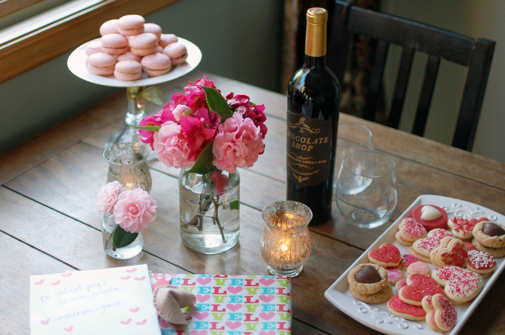 Wine and dessert and gifts!