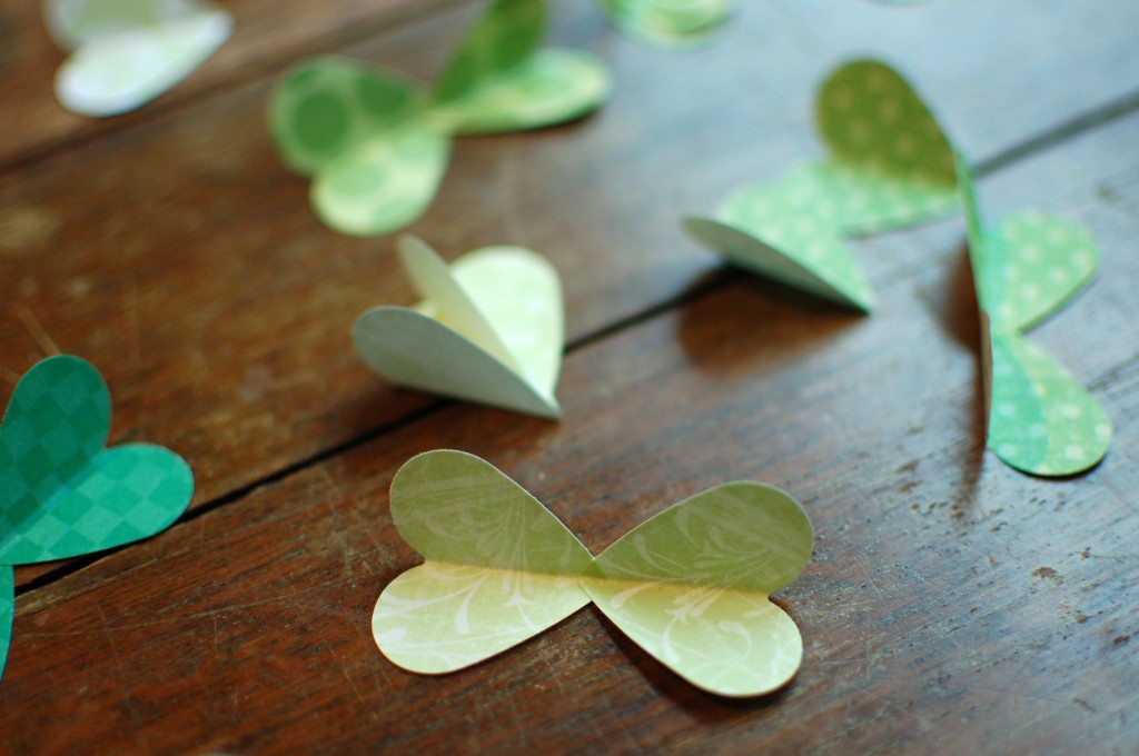Half-finished shamrock