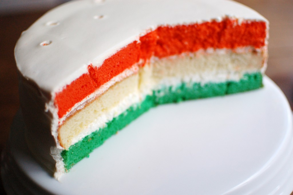 Irish flag cake