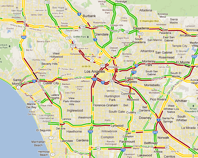 map of la traffic