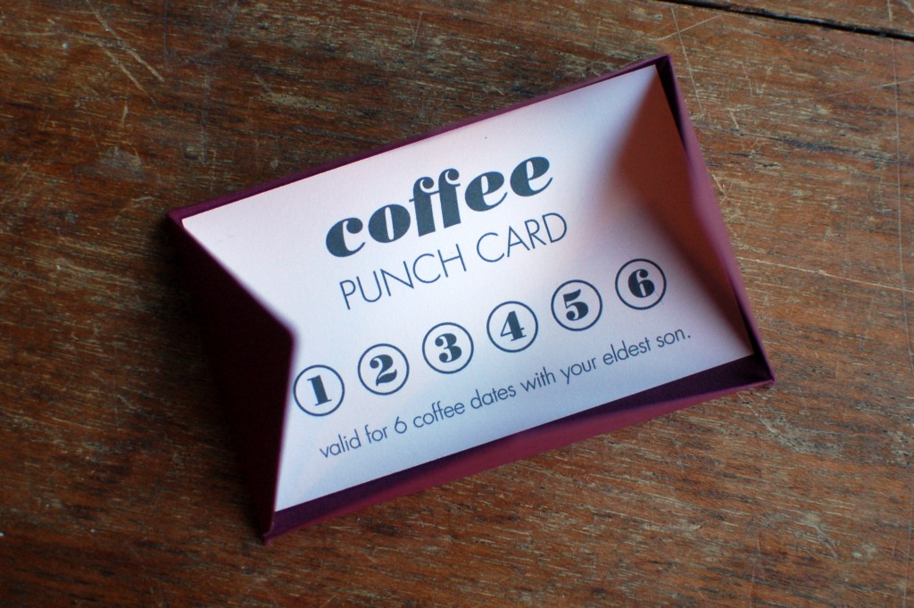 Coffee punch card