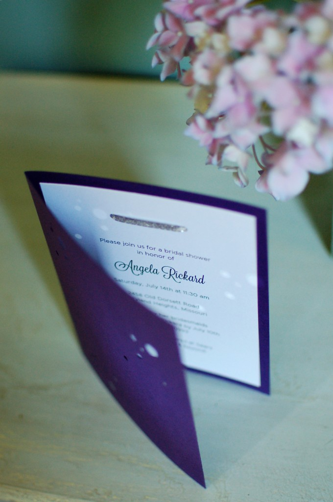 Star shower invitation