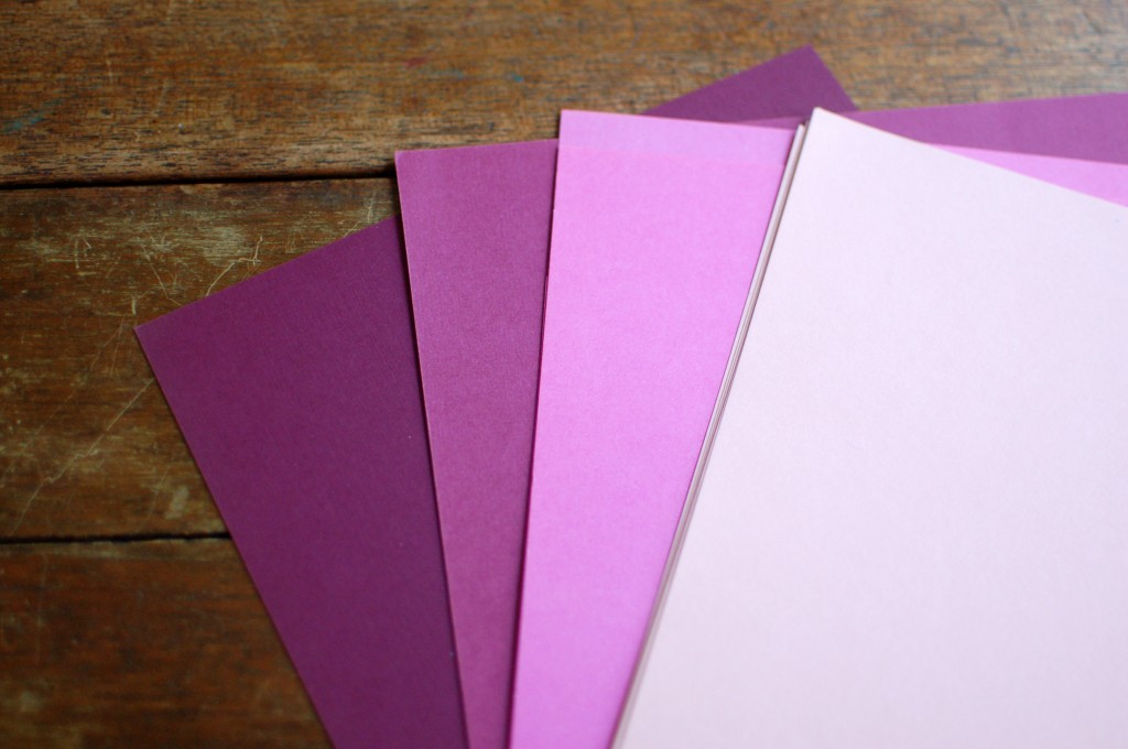 Card Stock for Ombre Bow