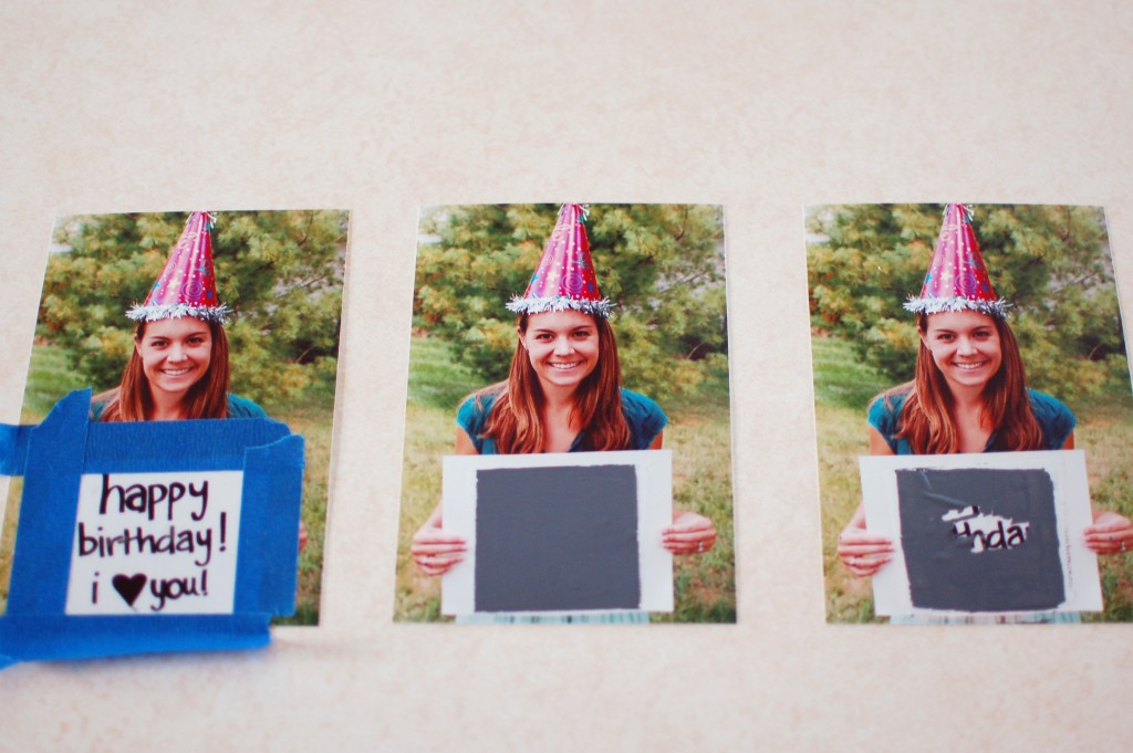 DIY scratch-off photo