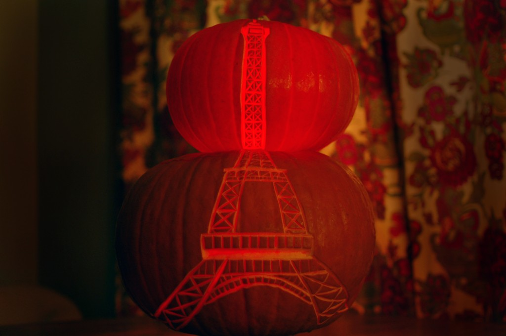 Eiffel tower pumpkins