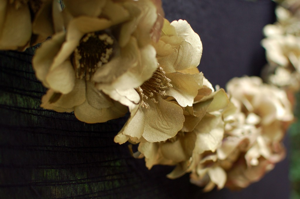 Gold flower garland