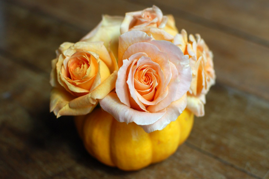 Mini pumpkin vases