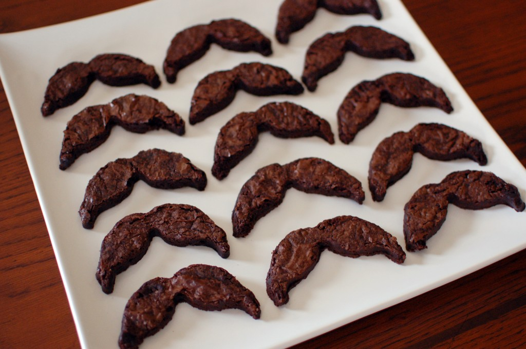 Mustache brownies