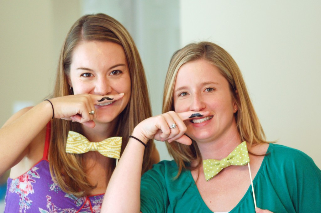 Mustaches and bowties