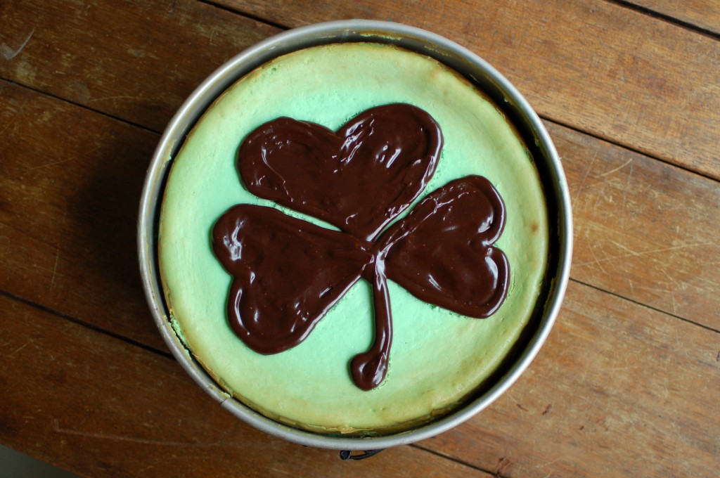 Bailey&#039;s cheesecake with Guinness ganache