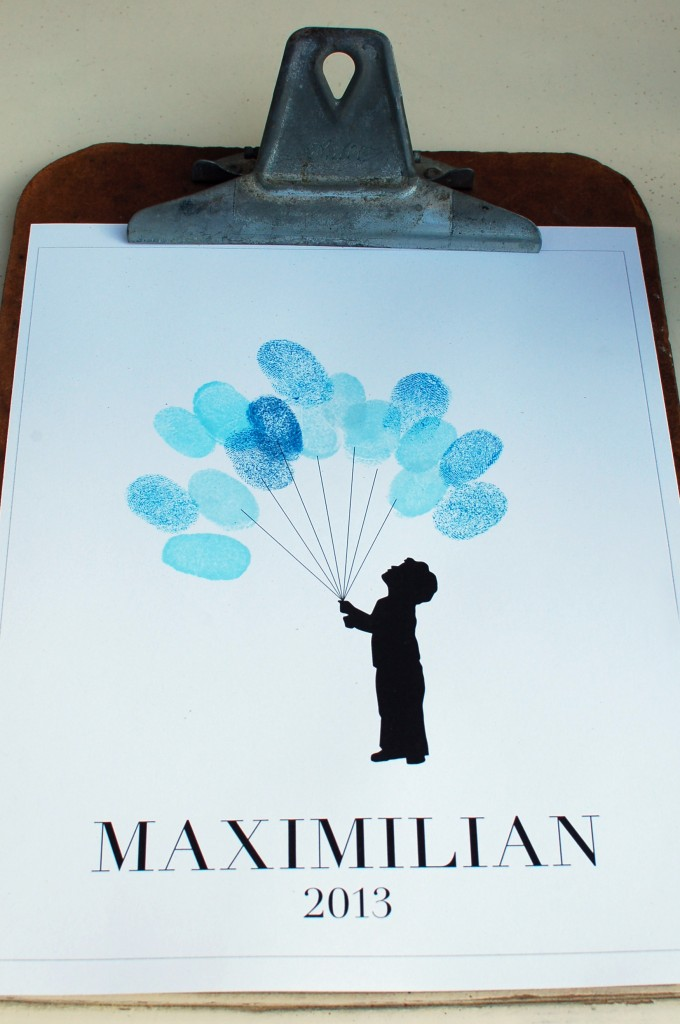 Thumbprint balloon print | seakettle