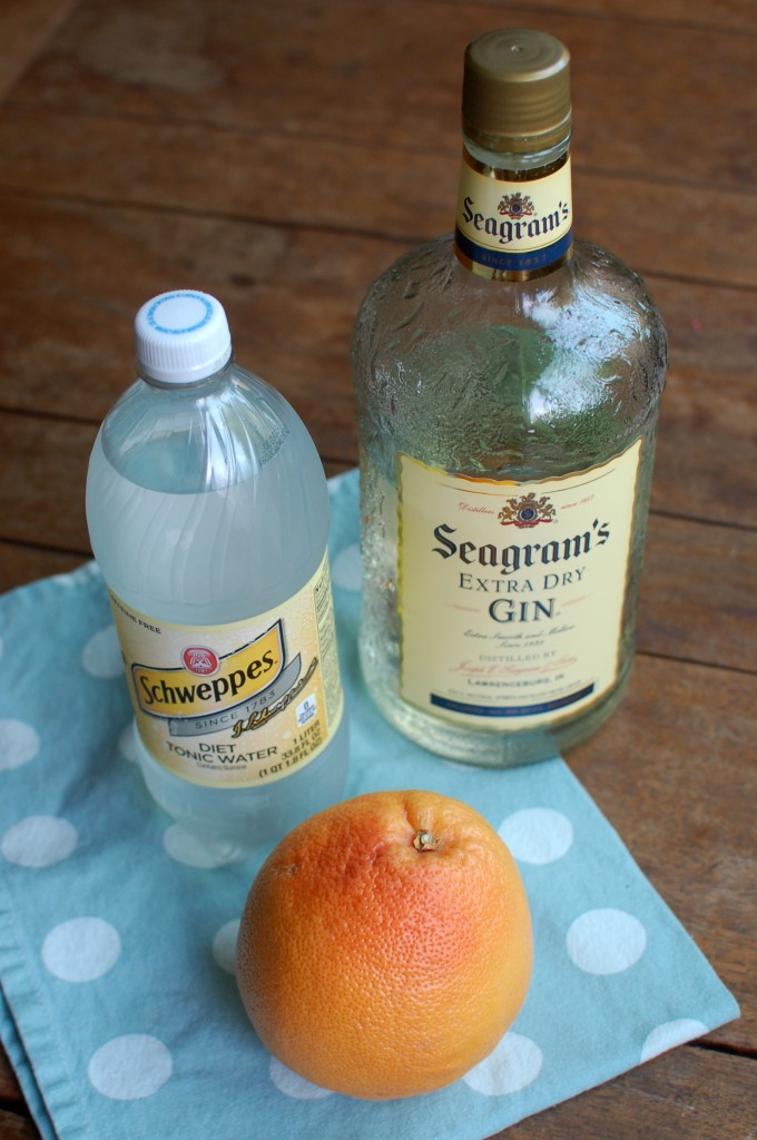 Grapefruit gin and tonic ingredients