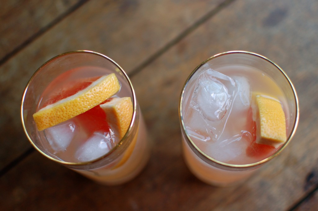 Grapefruit gin and tonics