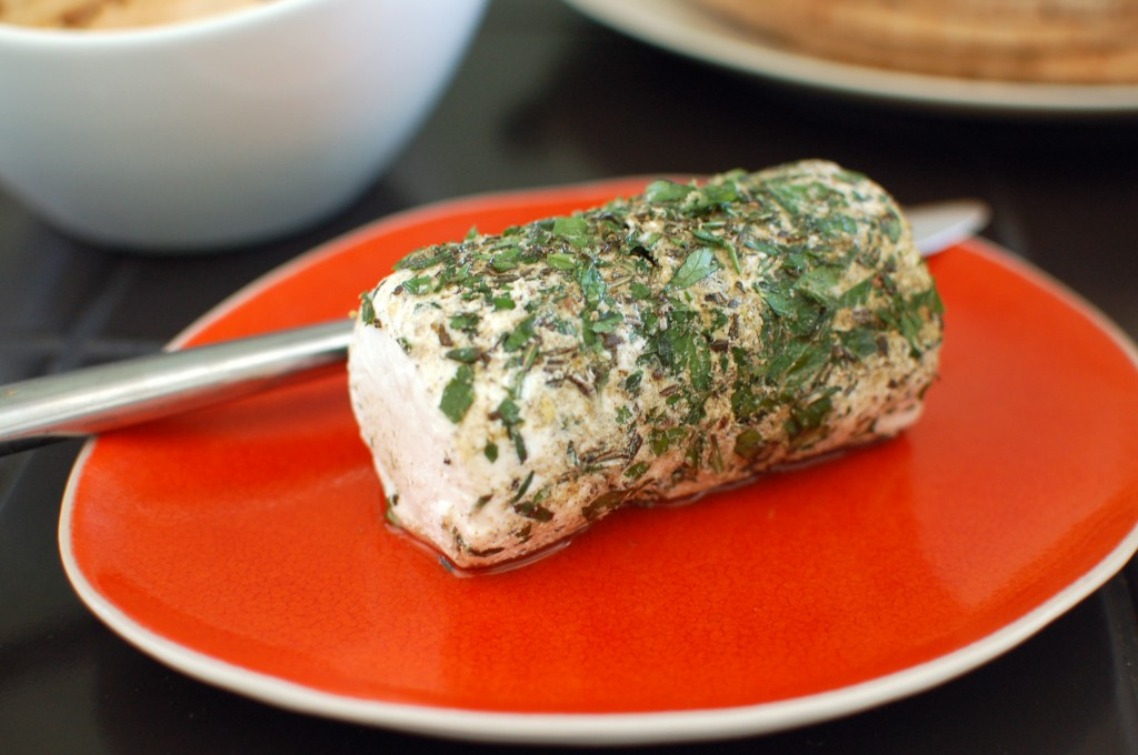 Goat cheese and herbs