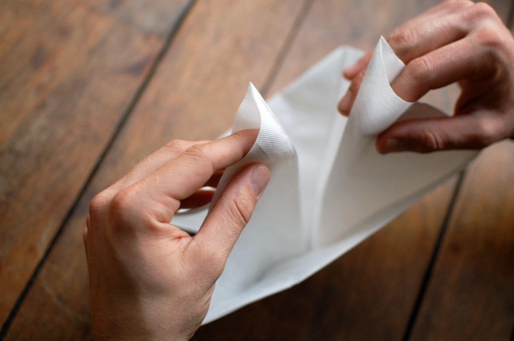 sail boat napkin origami