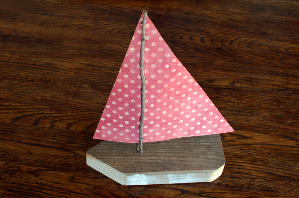 Wood and Paper Sailboat