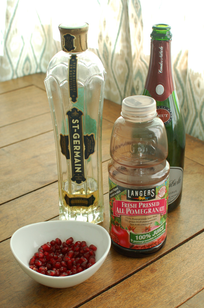 Pomegranate St-Germain Cocktail Ingredients