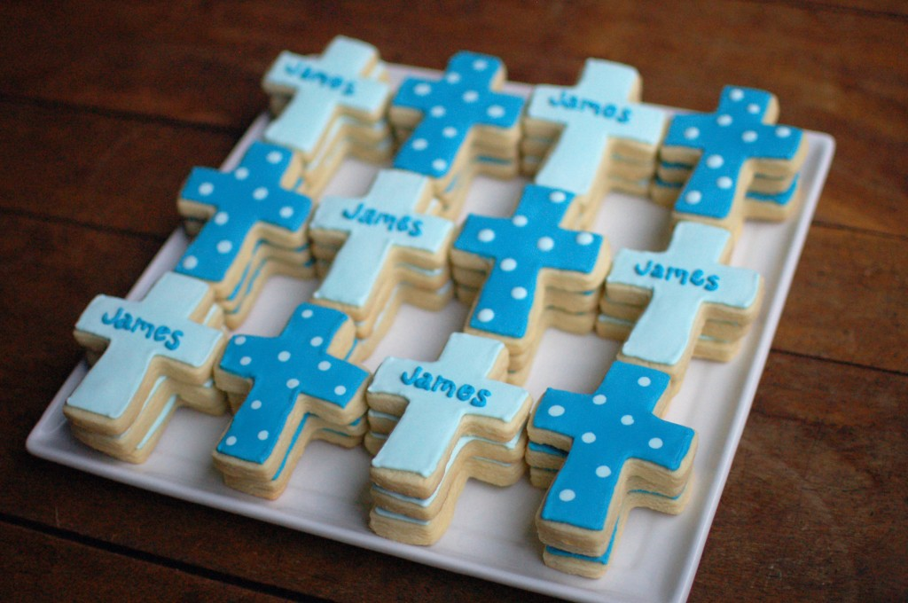 Cross Sugar Cookies for a Baptism
