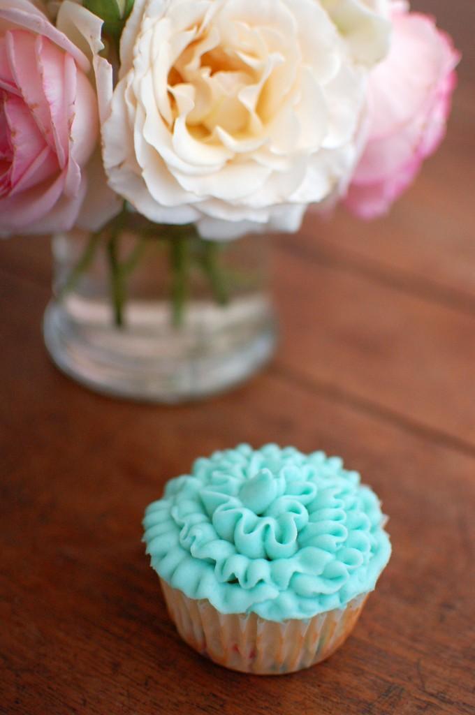 Ruffled cupcake
