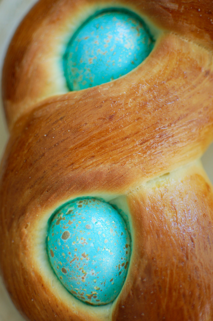 Easter egg bread wreath